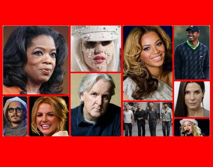 10 Most Powerful Celebrities (2010)