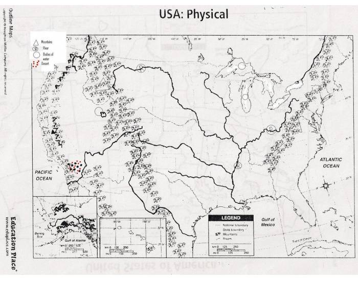 Physical Map Of Us Quiz