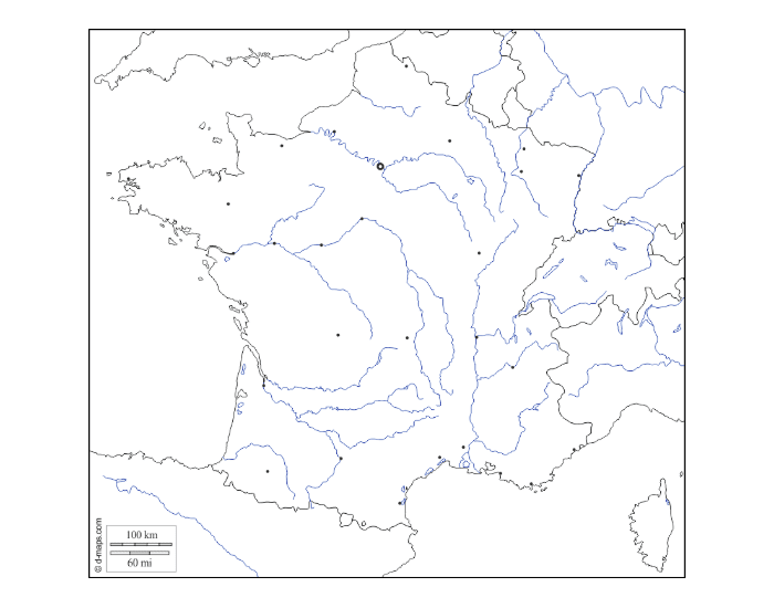 Countries/Water bordering France