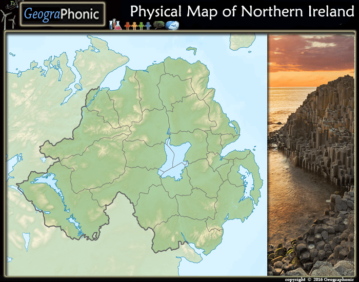 Physical Map Of Ireland.Physical Map Of Northern Ireland Purposegames