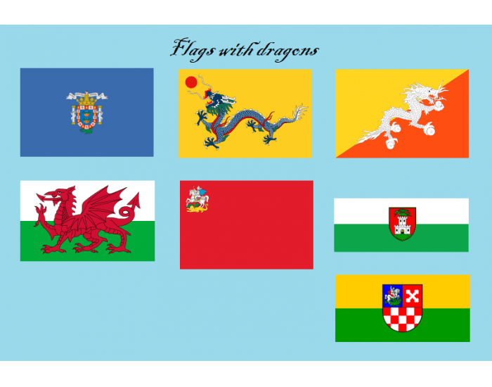 Flags with dragons