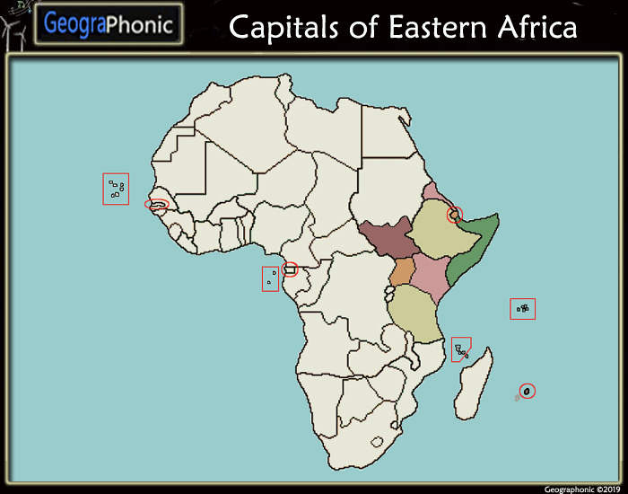 Capitals of Eastern Africa