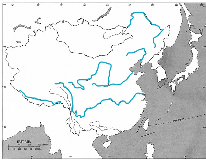East Asia: Rivers
