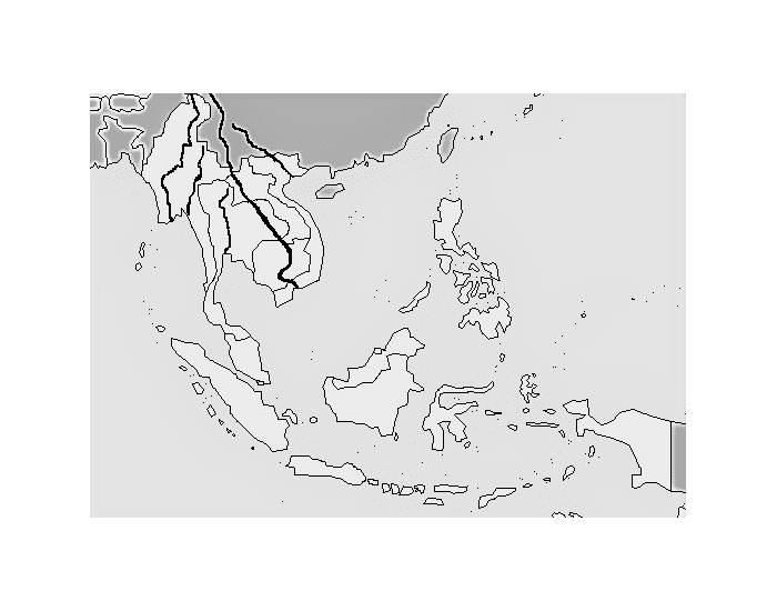 Southeast Asia: Rivers and Landforms