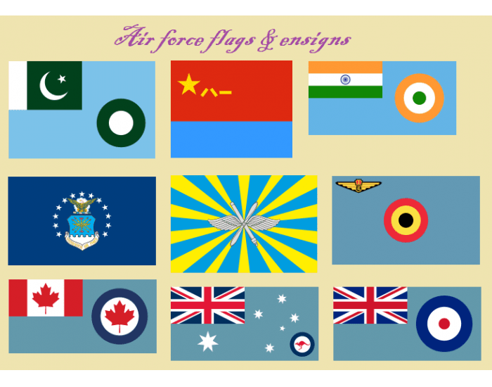 Air force flags & ensigns