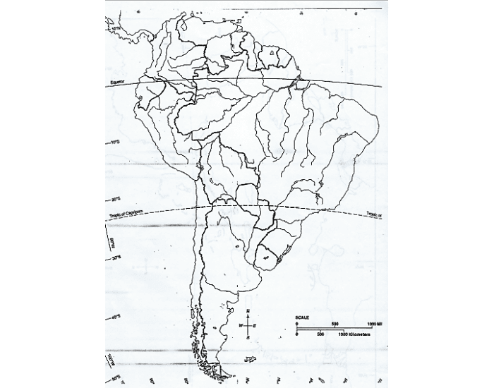 South America: Bodies of Water and Lakes