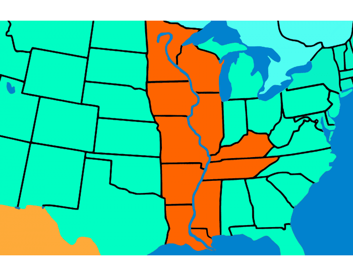 States That Border the Mississippi River