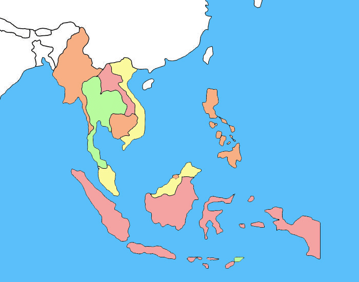 Countries of Southeast Asia - Shape Quiz