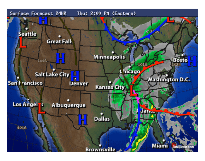 Identifying Parts of a Weather Map