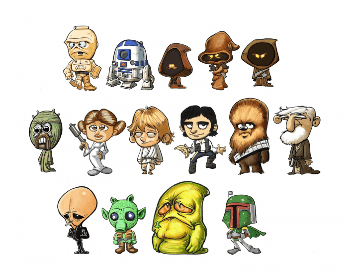STAR WARS Characters (Somewhat Distorted)