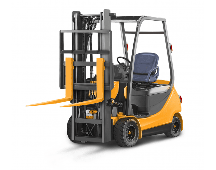 Parts of the forklift truck