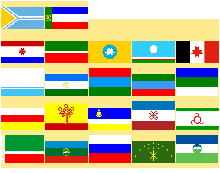 Flags Of The Russian Federation 2