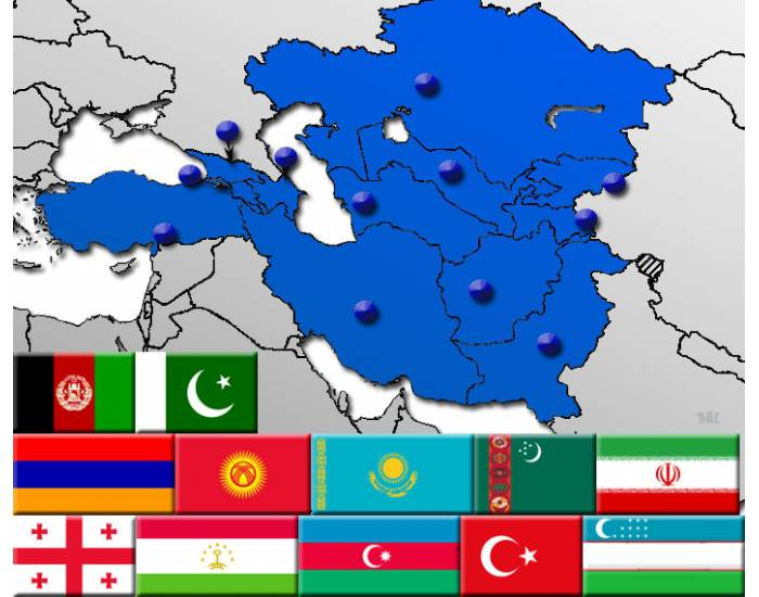 Western Asia by Flag, Capital and Country