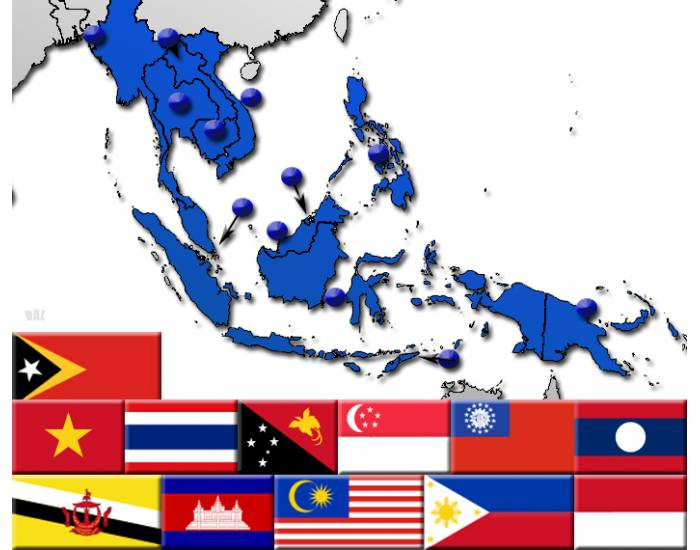Southeast Asia by Flag, Capital and Country