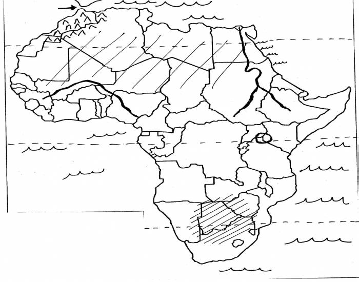 Southern africa study map quiz