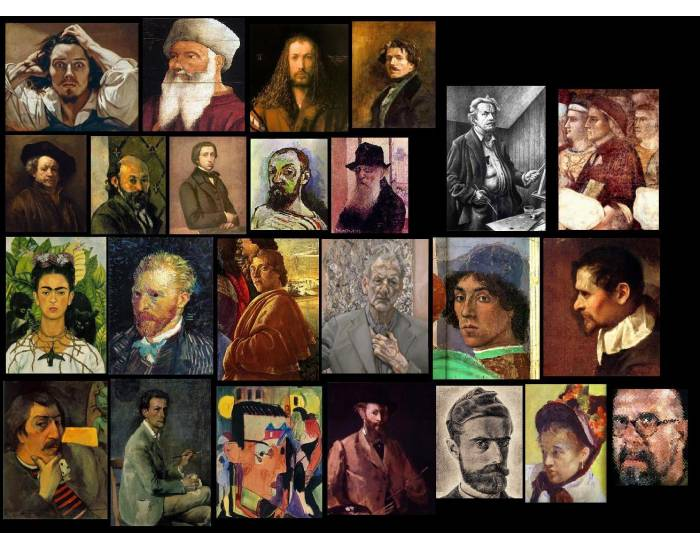 Self Portraits of Famous Artists