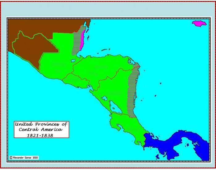 United Provinces of Central America (1821-1838) - PurposeGames on u s military history central america map, federation of central america map, colonial latin america map, us and mexico map, central america caribbean map, physical regions of the united states map, blank us physical geography map, anglicanism england united states spread map, anglican church population map,