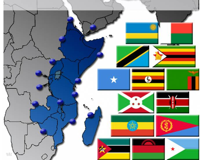 East Africa by Flag, Capital and Country