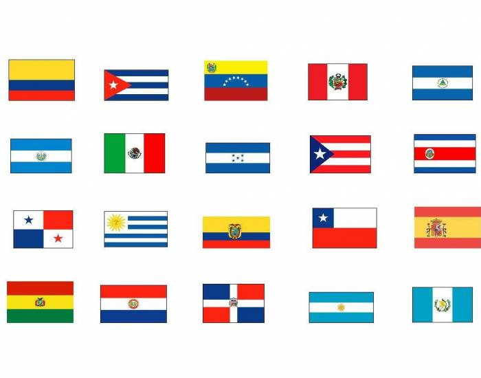 21 spanish speaking countries capitals and flags