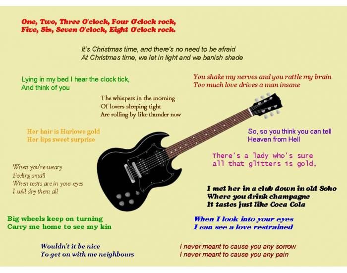Opening lines from famous pop songs - reloaded