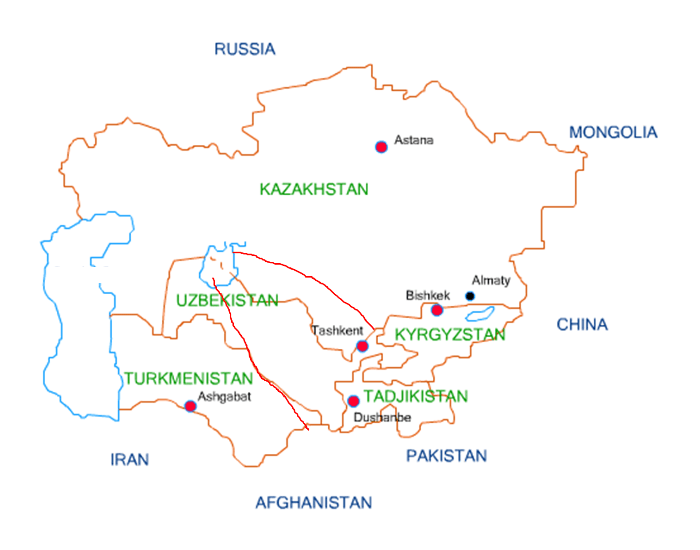 Rivers of Central Asia