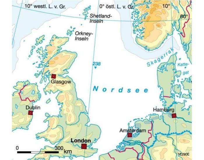 5 dots: Rivers to the North Sea