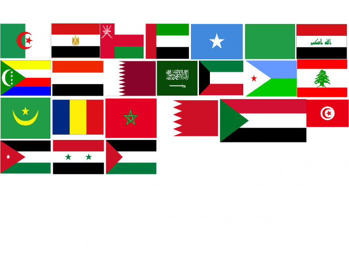 Flags of Arabic-speaking countries