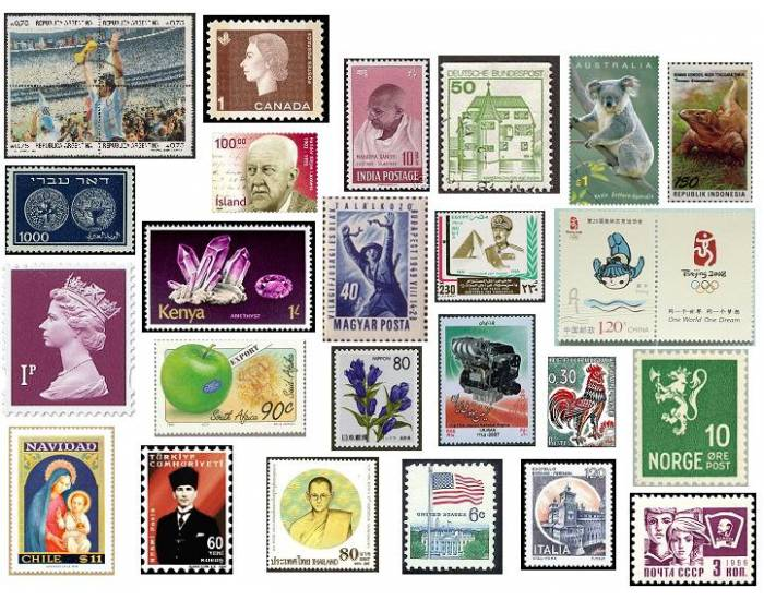 stamps from different countries