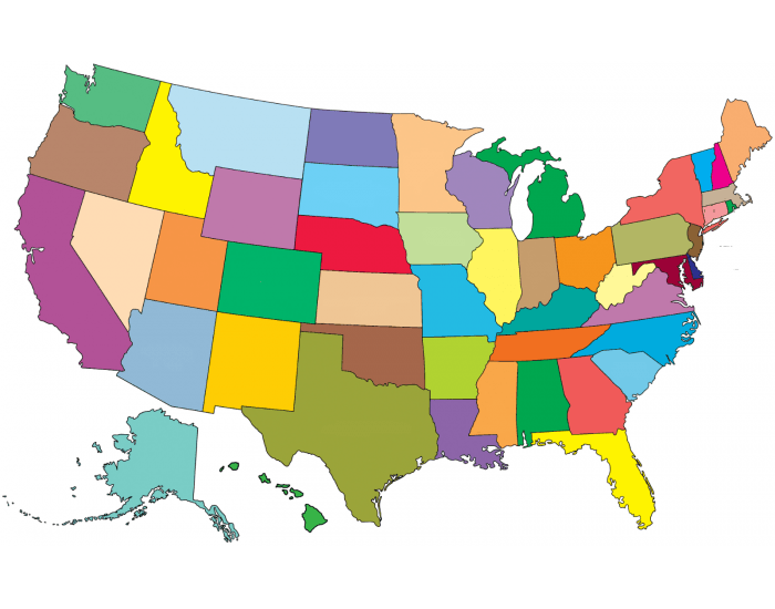 The 50 States Of The United States Labeling Interactive Purposegames