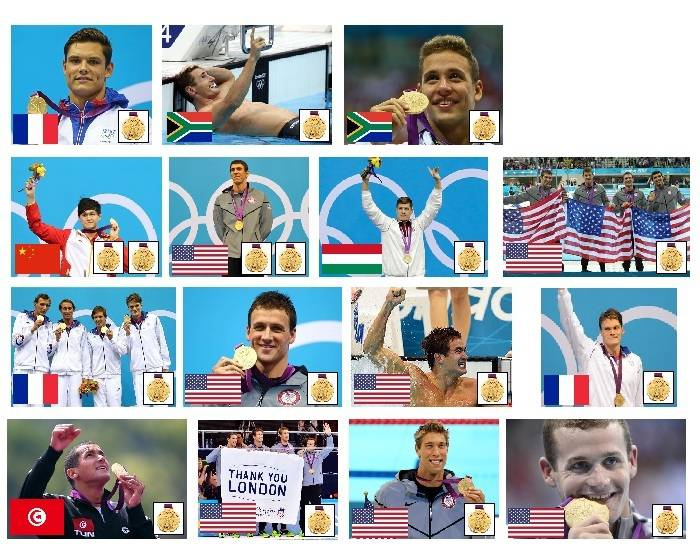 2012 Olympic Gold Medallists - Swimming - Part 1
