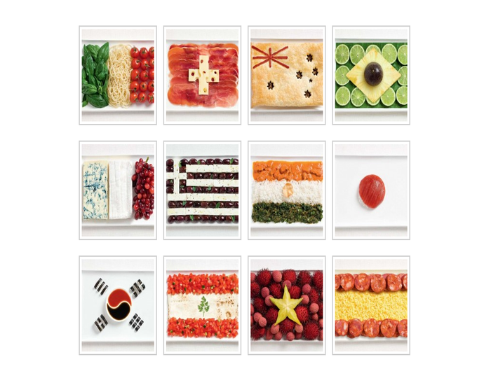 12 Flags Made Out of Food