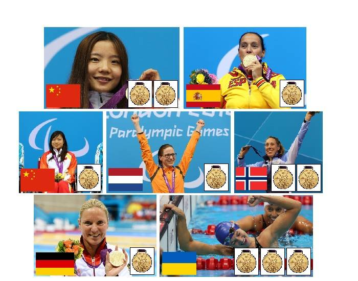 2012 Paralympic Gold Medallists - Swimming - Part 2