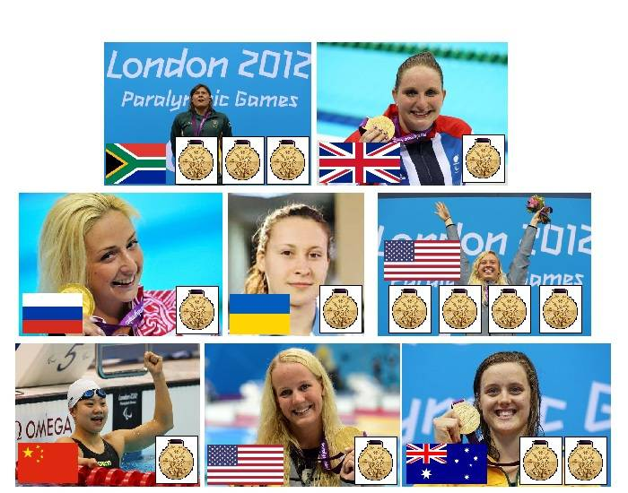 2012 Paralympic Gold Medallists - Swimming - Part 7