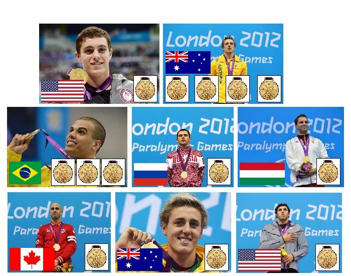 2012 Paralympic Gold Medallists - Swimming - Part 8