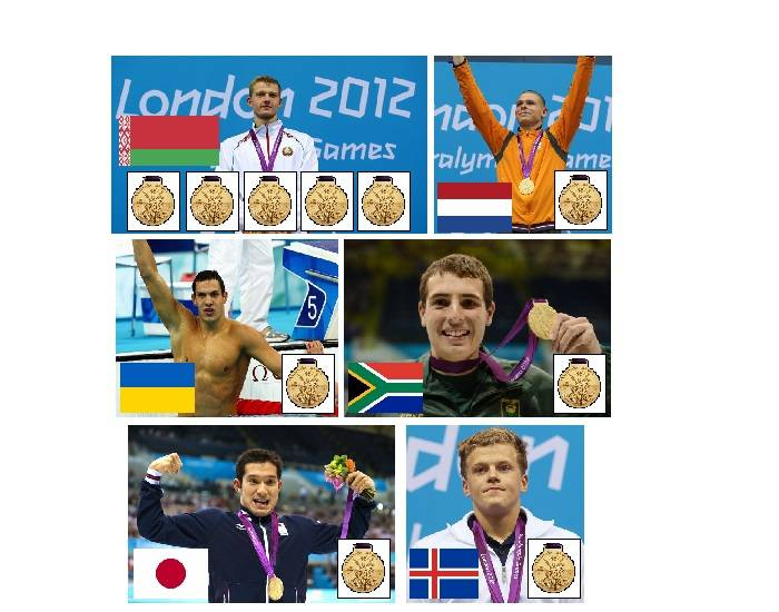 2012 Paralympic Gold Medallists - Swimming - Part 12