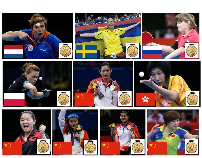 2012 Paralympic Gold Medallists - Table Tennis - Part 2