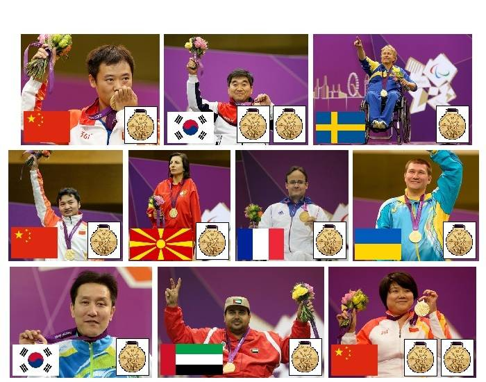 2012 Paralympic Gold Medallists - Shooting