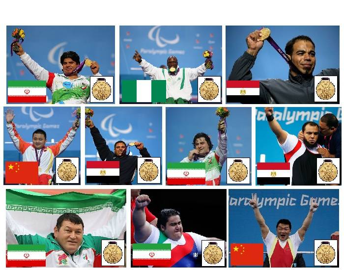2012 Paralympic Gold Medallists - Powerlifting - Part 1