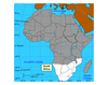 Map of South Africa Region and Islands of Africa