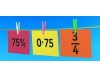 Match the fractions, percentage and decimals