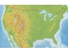 US Physical Geography Map