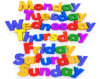 The days of the week in five languages