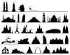 Famous Buildings & Structures Silhouettes