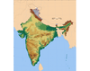 India (physical) #1 - Topography and Non-Water Features
