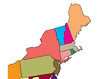 The States of the Northeast Labeling Interactive