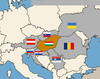 Which countries border Hungary?